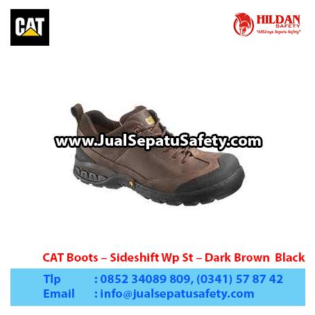 CAT Boots – Sideshift Wp St – Dark Brown Black1