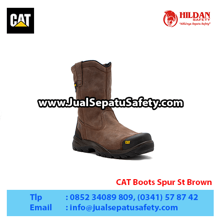CAT Boots Spur St Brown