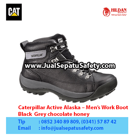 Caterpillar Active Alaska – Men's Work Boot – Black Grey chocolate honey1