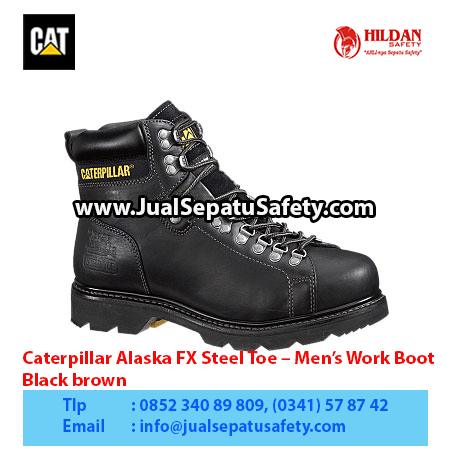 Caterpillar Alaska FX Steel Toe – Men's Work Boot – Black brown