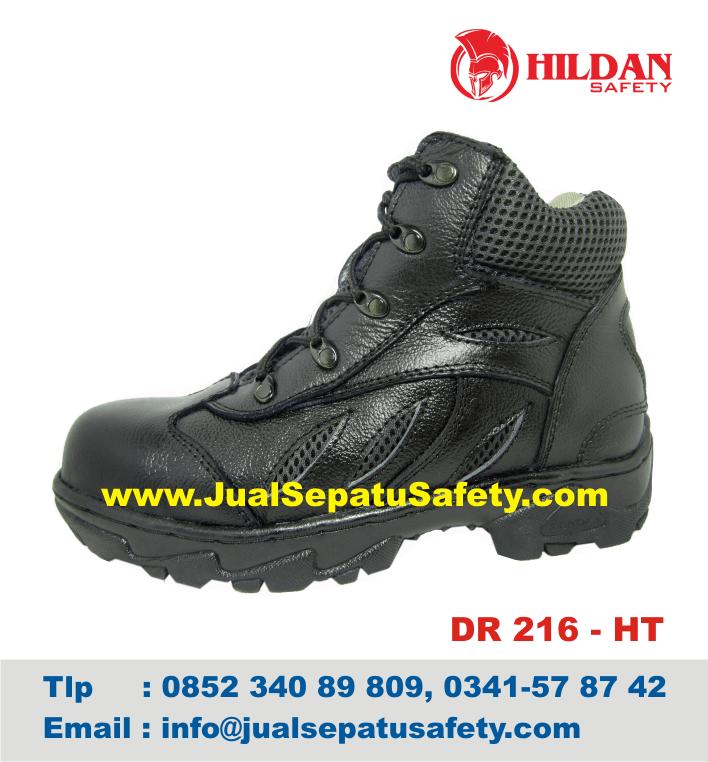 DR 216 HT - GROSIR Sepatu Naik GUNUNG MURAH Safety Kulit ASLI Hitam, HP.0852 340 89 809