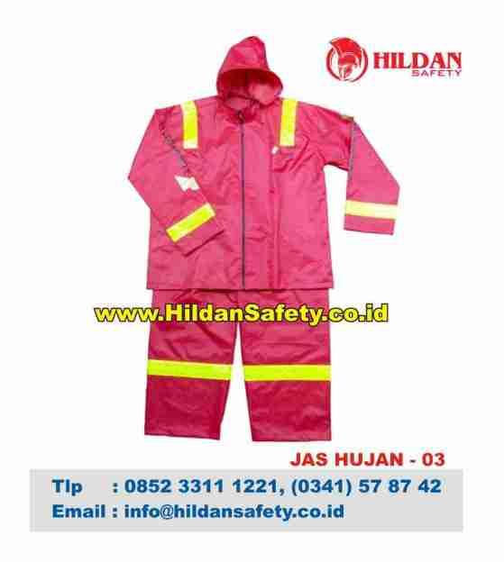 RC.003, Jas Hujan Safety Pink Garis Kuning