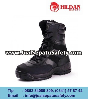tactical boots - black