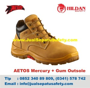 Sepatu Safety Shoes AETOS Mercury 813111 Wheat+Gum Outsole