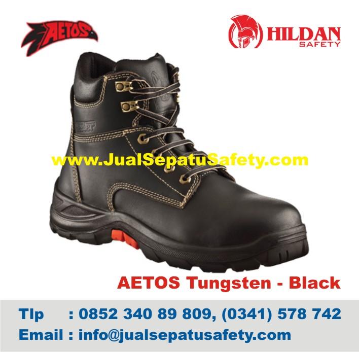 Sepatu Safety Shoes AETOS TUNGSTEN 813118 Black