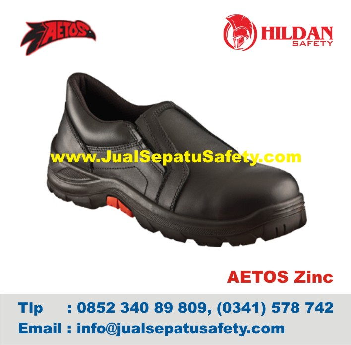 Sepatu Safety Shoes AETOS ZINC 813003 Black
