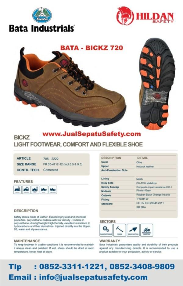Deskripsi Sepatu Safety Shoes BATA BICKZ 720