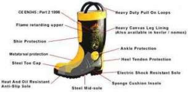 HP.0852-3311-1221,Spesifikasi Sepatu Safety Boots PEMADAM KEBAKARAN (DAMKAR)