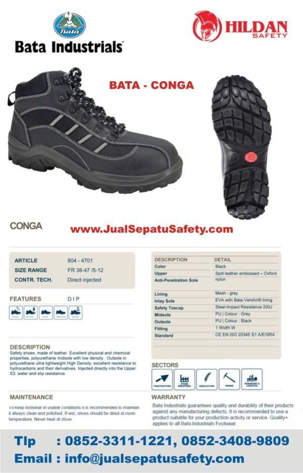 agen Sepatu Safety Shoes BATA CONGA di jakarta
