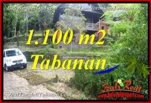 JUAL MURAH TANAH di TABANAN BALI 1,100 m2 View Danau Beratan dan Gunung