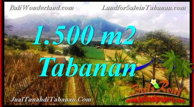 DIJUAL TANAH MURAH di TABANAN 1,500 m2  View Danau Beratan dan Gunung