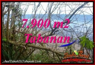 TANAH MURAH di TABANAN 7,900 m2  TEPI PANTAI