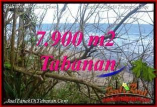 JUAL MURAH TANAH di TABANAN BALI 7,900 m2 TEPI PANTAI