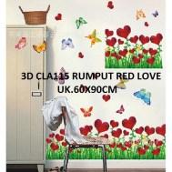 3d-cla115-rumput-red-love-wallsticker-ecer-grosir-untuk-dekor-kamar-ruang-tamu-kamar-bayi-085776500991-bu-eva