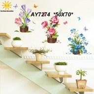 AY7274 Wallsticker ecer, grosir untuk dekor kamar, ruang tamu, kamar bayi. 085776500991-bu Eva