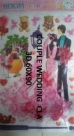 CLA079 COUPLE WEDDING 3D Wallsticker kamar anak, grosir untuk dekor kamar, ruang tamu, kamar bayi. 085776500991-bu Eva