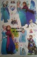 CLA082 FROZEN 3D Wallsticker kamar anak, grosir untuk dekor kamar, ruang tamu, kamar bayi. 085776500991-bu Eva