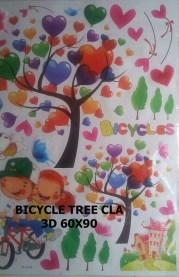 CLA106 BICYCLE 3D Wallsticker kamar anak, grosir untuk dekor kamar, ruang tamu, kamar bayi. 085776500991-bu Eva