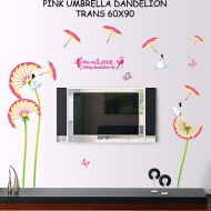 New-AY9121-pink-umbrella-dandelion-decorative-wall-stickers-bedroom-living-room-background-bathroom-glass-adhesive-sticker