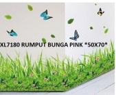 xl7180 rumput bunga pink Wallsticker Murah, ecer dan grosir untuk kamar, ruang tamu, dapur, kamar bayi.Bu Eva 0857.7650.0991