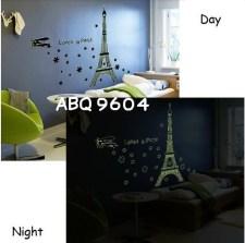 Glow Paris abq9604 Wallsticker ecer, grosir untuk dekor kamar, ruang tamu, kamar bayi. 085776500991-bu Eva