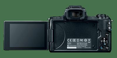 Canon M50 vista trasera