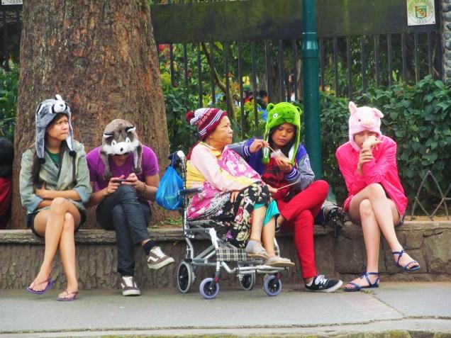A Christmas treat of grandchildren for Lola. Photo taken at Burnham Park in Baguio City, December 23, 2012.