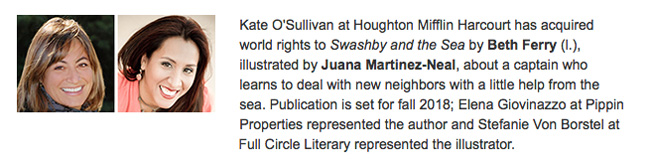 """Marvelous! Book Announcement: """"Swashby And The Sea"""""""