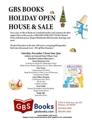 Gardner's Annual Holiday Open House & Sale