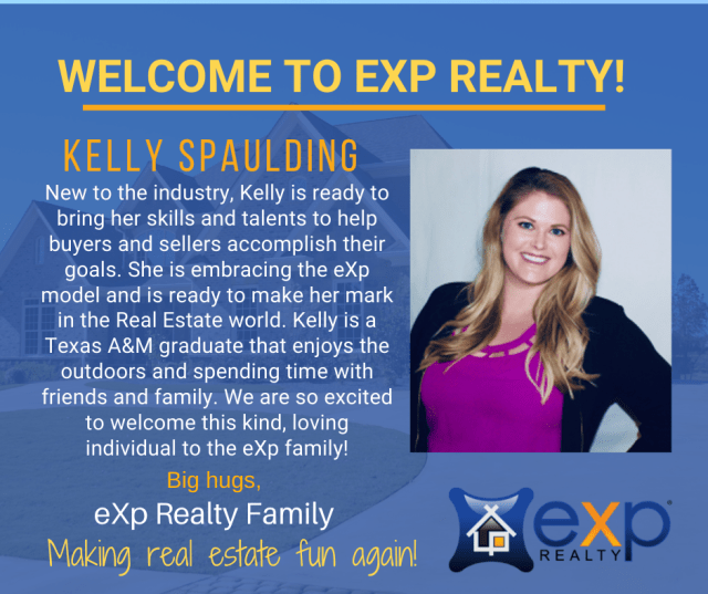 Kelly Spaulding joins eXp Realty. Congratulations in making the best decision in your real estate career. - Juan Sastoque and Bettina Sastoque
