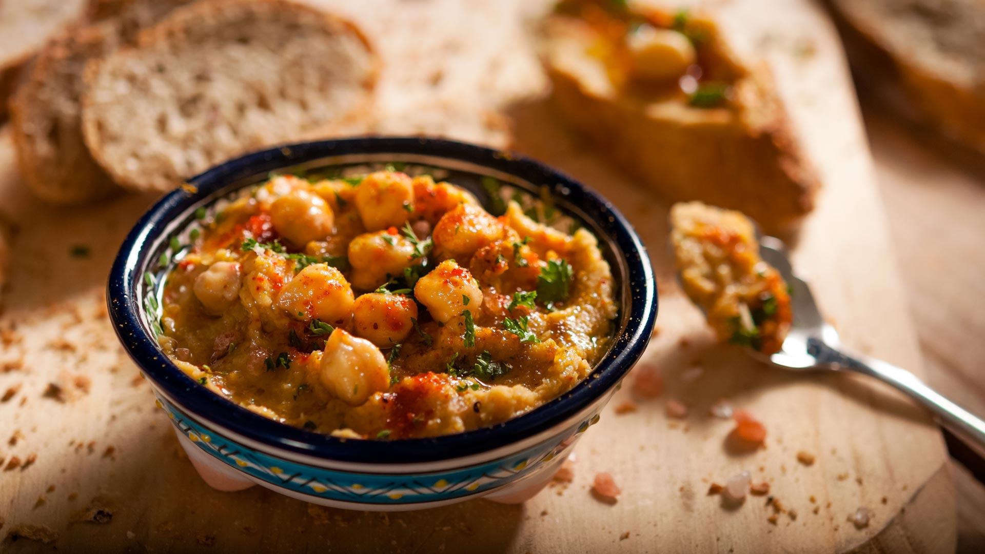 Fotografía de alimentos en Medellín, humus