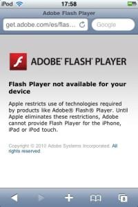 iPod No Flash