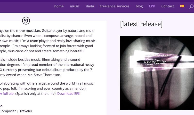 JuanCarrizo.com web ingles
