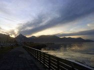 Ushuaia - Fin del mundo - Las montañas desde la costa