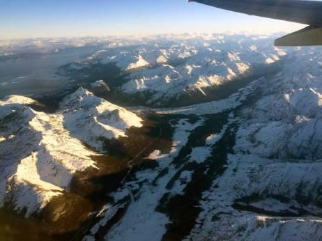 Ushuaia - Glaciar Martial - Vista desde el avion
