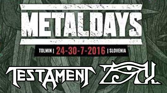 ZiX & Testament @ Metal Days 2016
