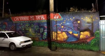 Dia de muertos en MIxquic - Arte urbano