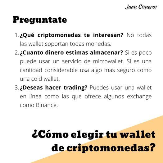 ¿Cómo elegir tu monedero o wallet de criptomonedas?