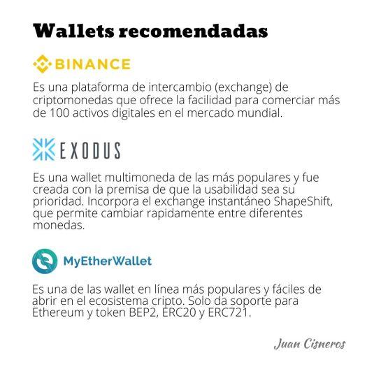 Tipos de monedero o wallet de criptomonedas y wallet recomendados