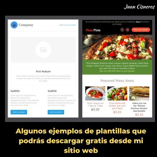 Descarga gratis plantillas para Email Marketing