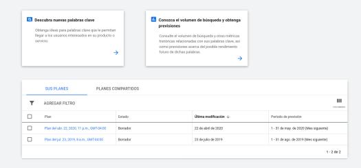 3 herramientas poderosas de Google para encontrar nichos de mercado en el 2020 - Google Keyword Planner