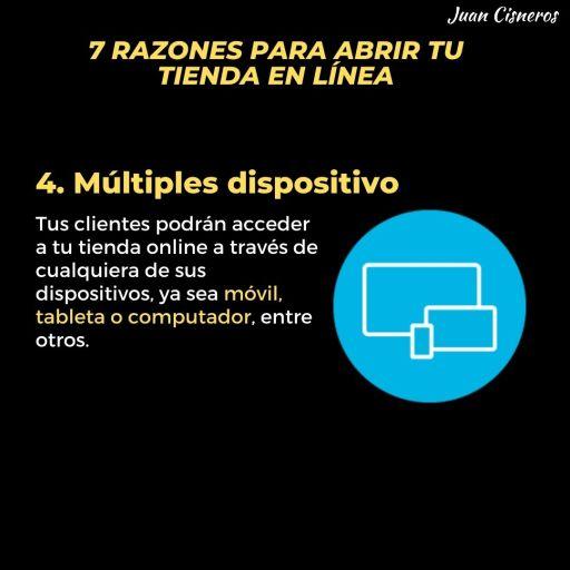 acceso a multiples dispositivos en tu tienda en línea