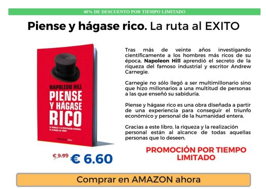 Piense y Hágase Rico Best Seller Libro Inteligencia Financiera