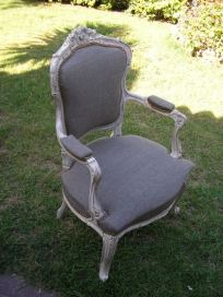 restauracion completa y tapizado de sillon