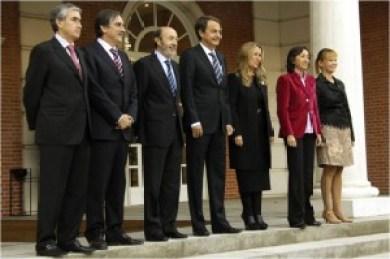 Los nuevos ministros en el Gobierno de Zapatero