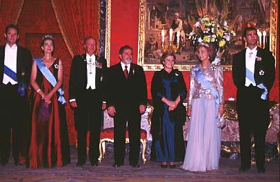 Lula Da Silva en la cena del Palacio Real de Madrid.