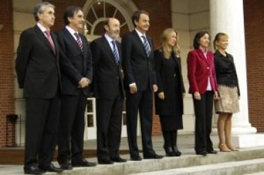 Nuevos ministros del Presidente Zapatero.