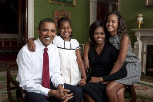 La familia Obama (sin el perro)