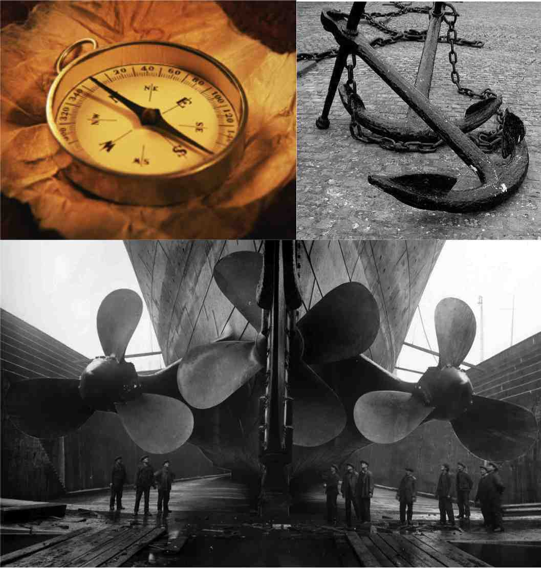 The Compass, The Anchor, and The Propeller
