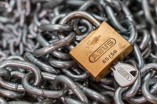 candado y cadena